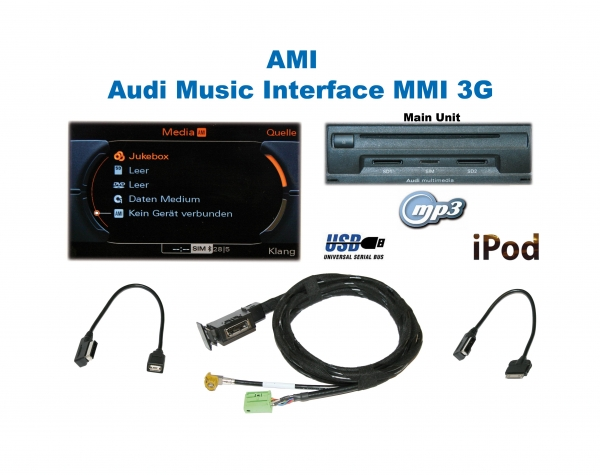 ami адаптер - видео - audi mmi 3g+, rmc