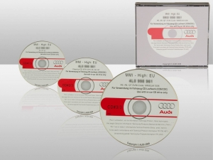 Original Audi MMI update CDs to the MMI software version 5570