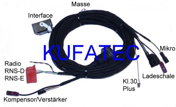 провода Bluetooth версия Complete Audi A3 8p